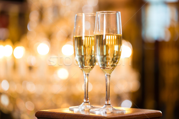 Two glasses of champagne Stock photo © Kzenon