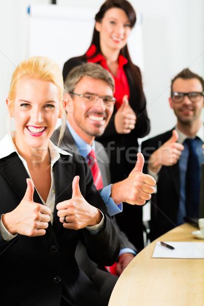 Business team vergadering workshop kantoor Stockfoto © Kzenon