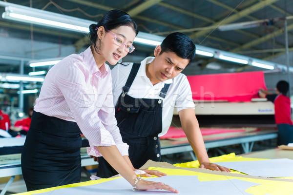ázsiai gyártás menedzser designer gyár indonéz Stock fotó © Kzenon