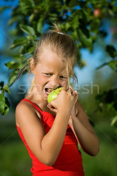 Nino manzana nina mueca agrio Foto stock © Kzenon