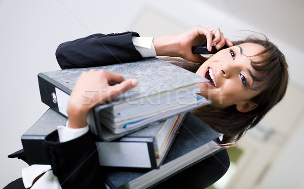 Stressed but successful Stock photo © Kzenon