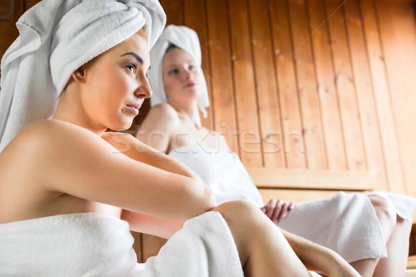 Stok fotoğraf: Kadın · sağlıklı · yaşam · spa · sauna · demleme