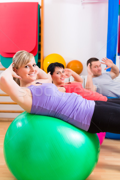 Fysiotherapie opleiding arts man arts Stockfoto © Kzenon