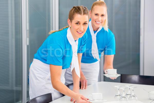 Negocios almuerzo oficina mujeres de trabajo equipo Foto stock © Kzenon