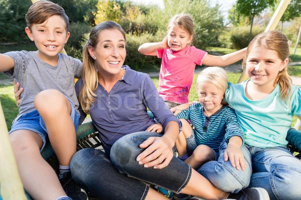 Család anya elvesz fotó együtt boldog család Stock fotó © Kzenon