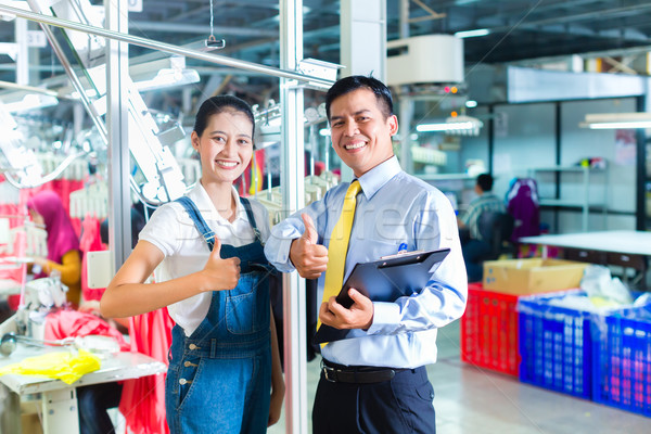 Сток-фото: азиатских · текстильной · завода · подготовки · индонезийский · новых