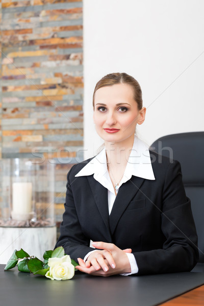 Mortician in her store Stock photo © Kzenon