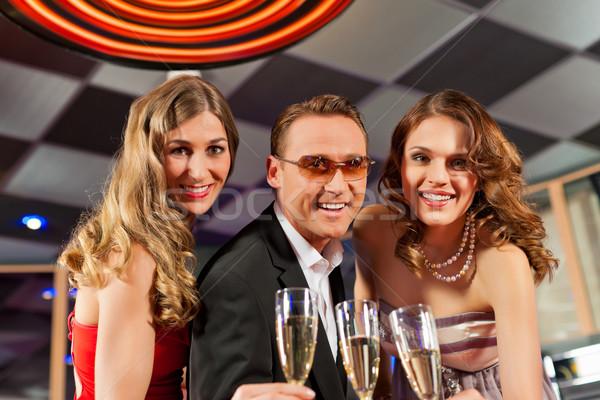 Persone bar champagne party uomo compleanno Foto d'archivio © Kzenon