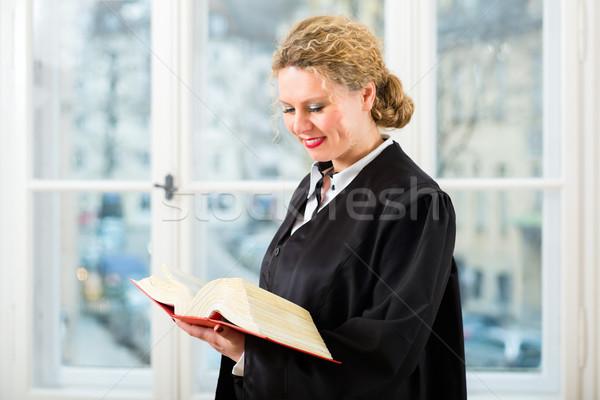 Avvocato ufficio legge libro lettura finestra Foto d'archivio © Kzenon