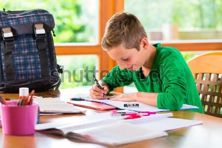 Student doing homework assignment Stock photo © Kzenon