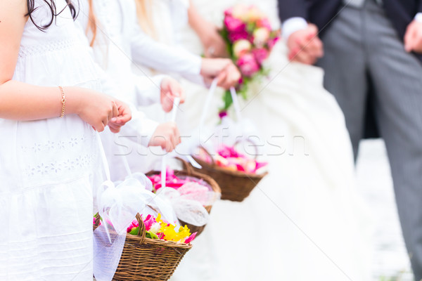 свадьба детей цветок корзины пару невеста Сток-фото © Kzenon
