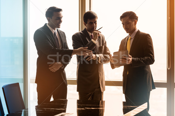 Asian Business people having conversation in conference room Stock photo © Kzenon