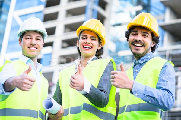 Team burgerlijk ingenieurs bouw bouwplaats Stockfoto © Kzenon
