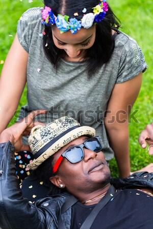 Vriendschap mensen verschillend liefde wortels achtergronden Stockfoto © Kzenon