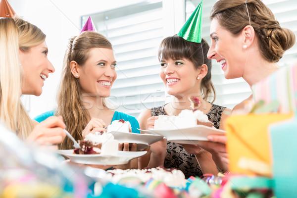 美しい 女性 誕生日ケーキ ポジティブ ストックフォト © Kzenon