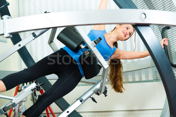 Patient at the physiotherapy doing physical therapy Stock photo © Kzenon