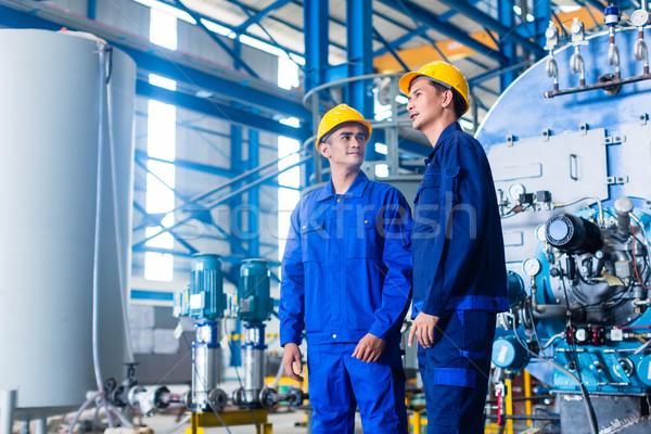 Lavoratore asian fabbricazione impianto Foto d'archivio © Kzenon
