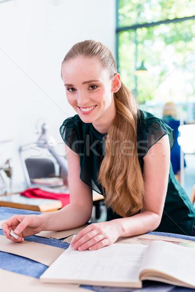 портной шаблон ткань женщину работу Сток-фото © Kzenon