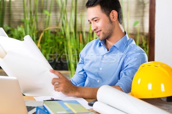 Architetto lavoro home design desk Foto d'archivio © Kzenon