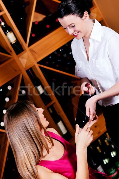 Garson şişe restoran eller Stok fotoğraf © Kzenon