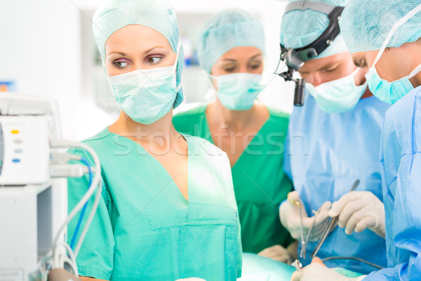 Surgeon doctors  working in operation theater Stock photo © Kzenon