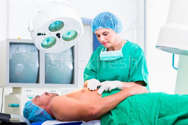 Ortopédico cirujano paciente médico cirugía hospital Foto stock © Kzenon