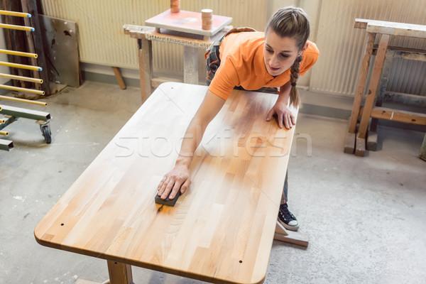 плотник женщину рабочих таблице выстрел Сток-фото © Kzenon