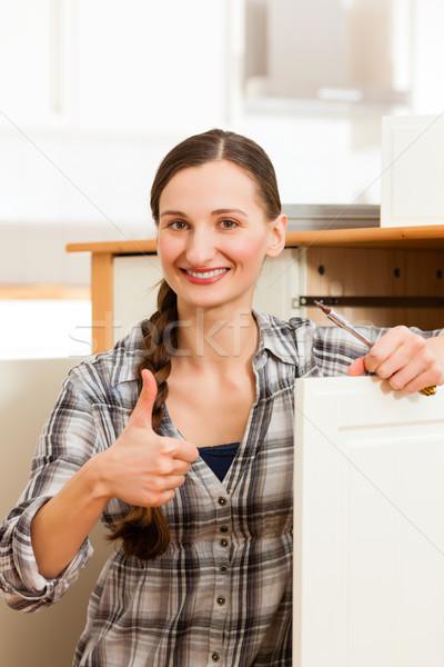 Сток-фото: шкаф · движущихся · из · женщину · работу