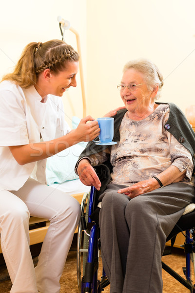 Young Nurse And Female Senior In Nursing Home Stock Photo C Arne Trautmann Kzenon 3554399 Stockfresh