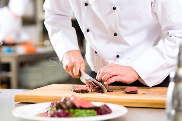 Foto d'archivio: Chef · ristorante · cucina · hotel · cottura