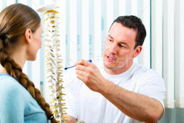 Advice - patient at the physiotherapy Stock photo © Kzenon