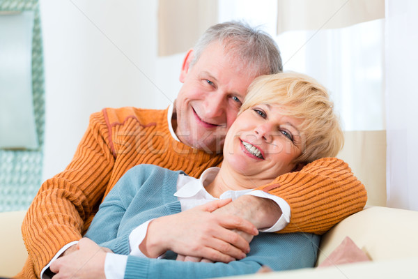 Seniors at home still in love after all those years Stock photo © Kzenon
