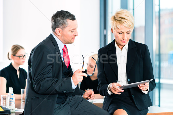 Business - meeting in office, senior managers Stock photo © Kzenon