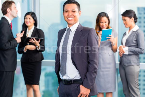 Asian gens d'affaires réunion bureau portrait affaires Photo stock © Kzenon