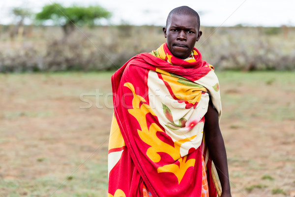 Portrait of Massai man Stock photo © Kzenon