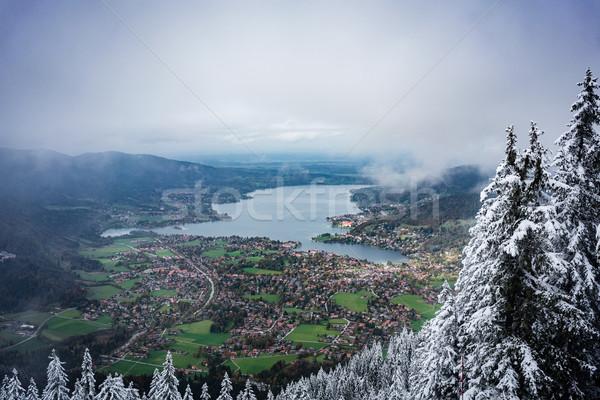 Vroeg winter vallei bos landschap Stockfoto © Kzenon