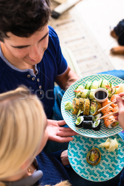 Ritratto felice mangiare tradizionale Foto d'archivio © Kzenon
