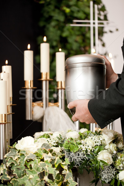 Grief - urn Funeral and cemetery Stock photo © Kzenon