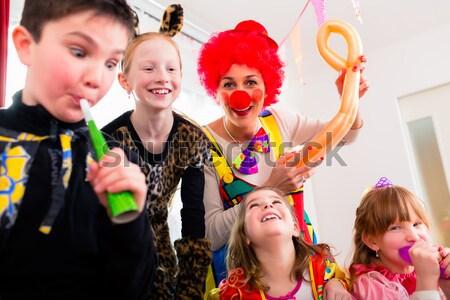 Party People in bar celebrating carnival Stock photo © Kzenon