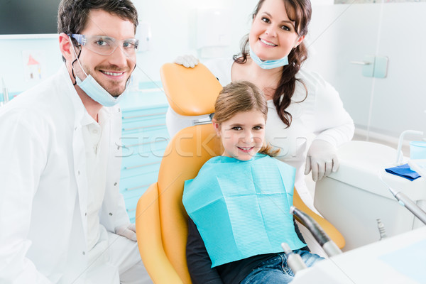 Foto stock: Dentista · criança · cirurgia · não · necessidade · três · de · um · tipo