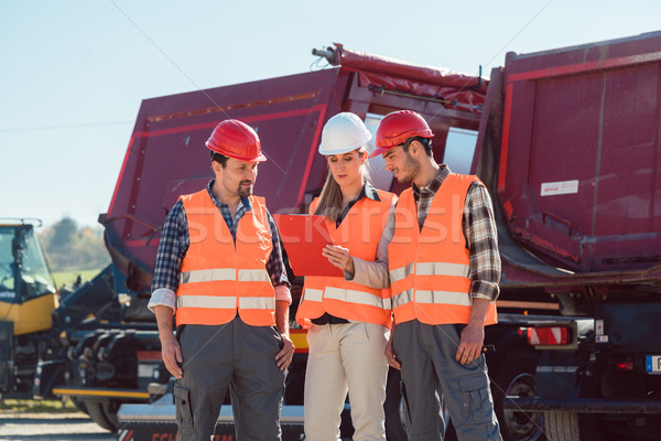Workers in a heavy transport freight forwarding company  Stock photo © Kzenon
