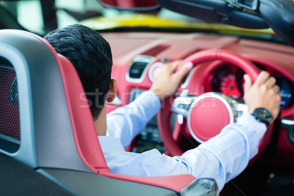 азиатских человека новых Спортивный автомобиль автомобилей Сток-фото © Kzenon