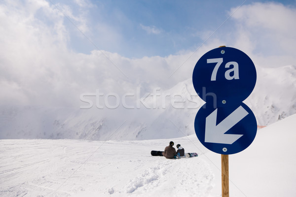 Stock photo: Ski piste in the alps
