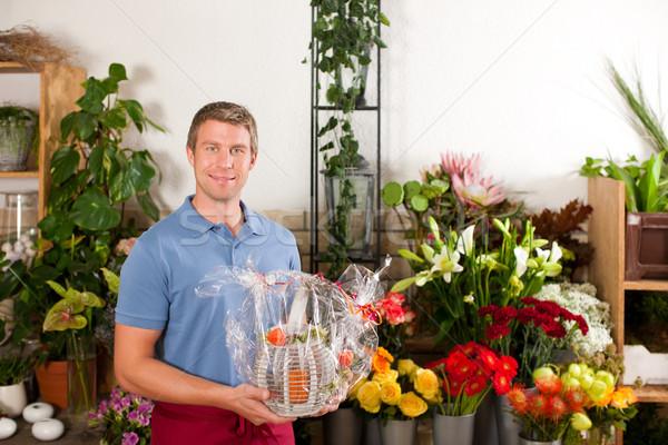 花屋 花屋 男性 植物 ストックフォト © Kzenon