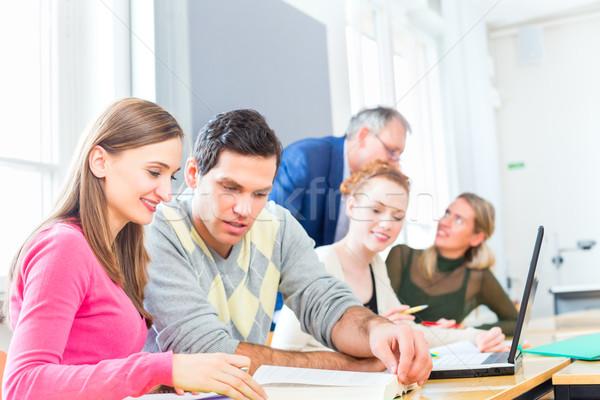 大学 学生 教授 大学 セミナー ラップトップを使用して ストックフォト © Kzenon