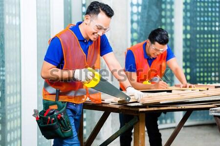 Travailleur ceo usine Homme designer égout Photo stock © Kzenon