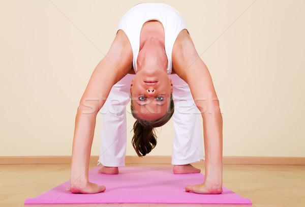 Yoga - Urdhva Dhanurasana Stock photo © Kzenon
