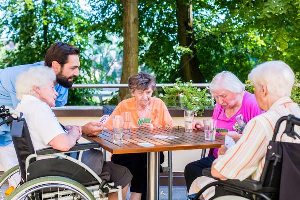 Grupy pielęgniarki karty do gry domu lata Zdjęcia stock © Kzenon