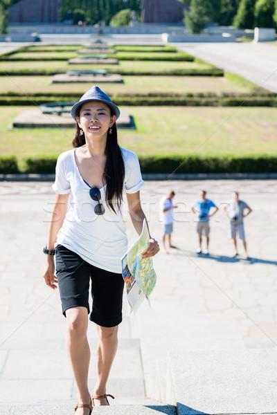 Gelukkig asian vrouw zomer Stockfoto © Kzenon