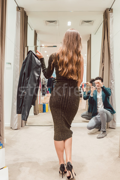 человека фото жена новых платье Сток-фото © Kzenon